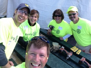 Valparaiso Rotary Club volunteers at Valplayso 2014